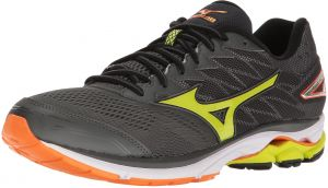 d90609327d26 Mizuno Running Men's Wave Rider 20 Running Shoe, Dark Shadow/Lime  Punch/Vibrant Orange, 15 D(M) US