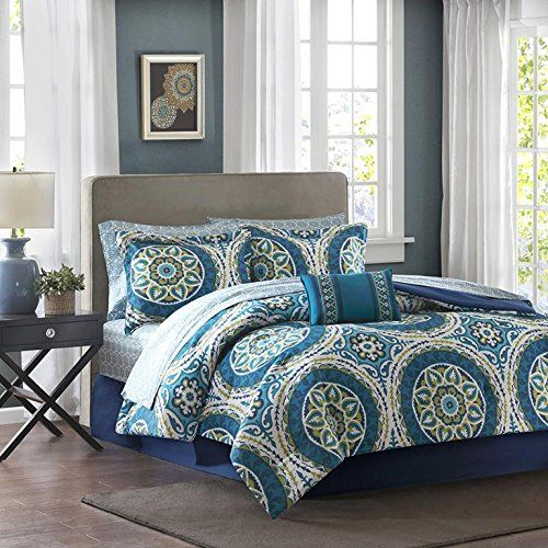 Madison Park Essentials Serenity Twin Size Bed Comforter Set Bed In