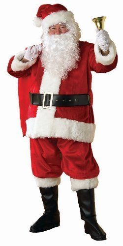 bac2ccd47802a Rubie s 8-Piece Deluxe Velvet Santa Suit With Wig And Beard