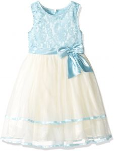 7f132d36c3b Jayne Copeland 2-6x Little Girls  Blue Lace Top with Tulle Skirt