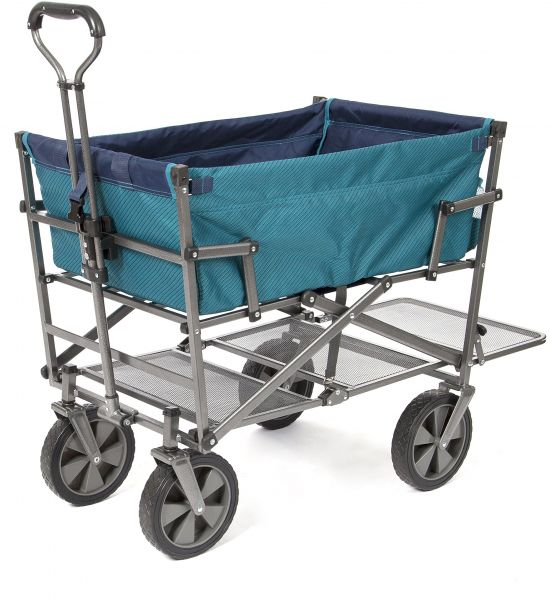 Mac Sports DD-100 Collapsible Double Decker Outdoor Utility Wagon with  Extended Lower Shelf b5c5b7f0a