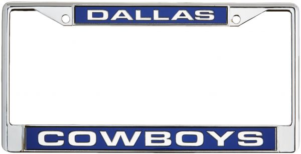 NFL Dallas Cowboys Laser Cut Inlaid Standard Chrome License Plate ...