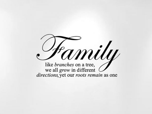 Innovative Stencils Family Like Branches On A Tree Wall Decal