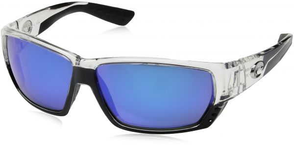 97f40fd354 Costa del Mar Unisex-Adult Tuna Alley TA 25 OBMGLP Polarized Iridium Wrap  Sunglasses