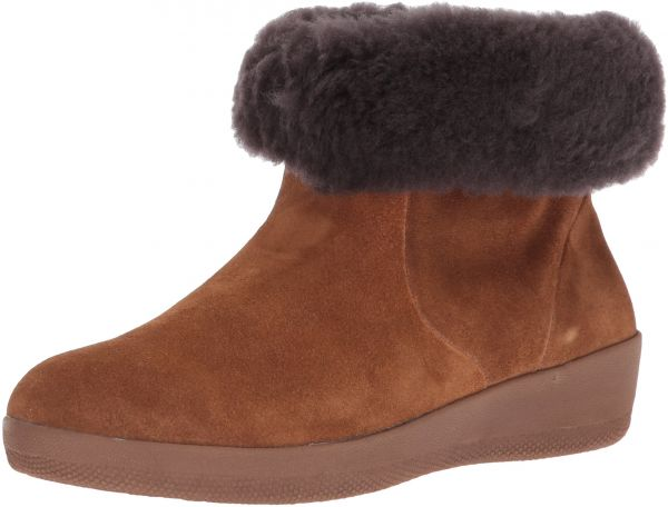 bd557a258 FitFlop Women s Skatebootie Suede Shearling Ankle Boot
