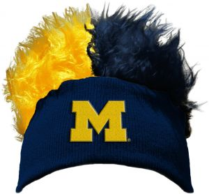 size 40 37e7d 70d97 The Northwest Company Officially Licensed NCAA Michigan Wolverines Flair  Hair Beanie Cap