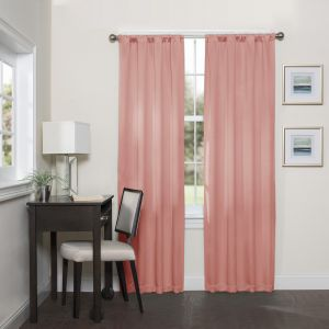 Eclipse 16205037063crl Darrell 37 Inch By 63 Thermaweave Room Darkening Single Window Curtain Panel C