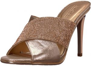1e90f499d Kenneth Cole REACTION Women s Look Beyond 2 High Heel Cross Band Upper  Heeled Sandal