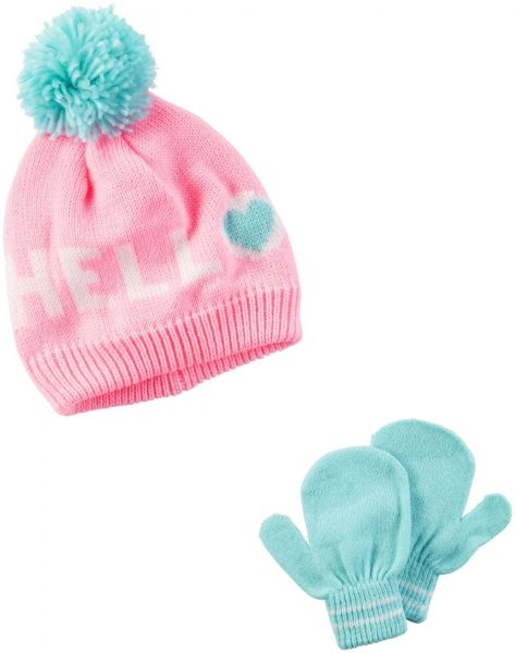 Carter s Baby Girls  Winter Hat-Glove Sets D08g241 04799cf77a1