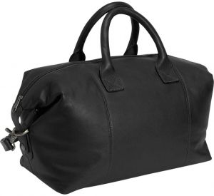 869cdc0dcc8 Royce Leather Luxury Overnighter Luggage Handcrafted in Leather Duffel Bag,  Black, One Size