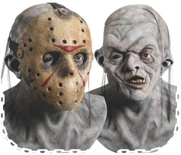 Rubie's Adult Jason Overhead Latex Deluxe Mask with Removable PVC Hockey  Mask - Multicolored - One Size | Souq - UAE
