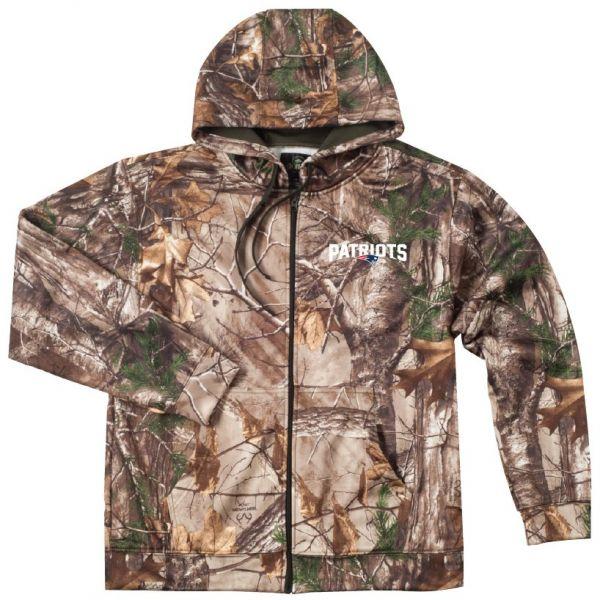 Dunbrooke Apparel NFL New England Patriots Adult Champion Realtree Xtra  Polyester Tech Fleece Full Zip Hoodie 2b8a7ad6f