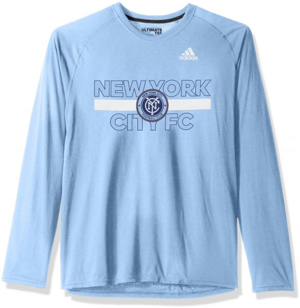 a9a48dd8a6 Ultimate Tee Nycfc Light Ls Men X Large 1949 Adult Blue Adidas Mls ...
