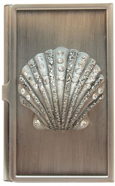 All For Giving Seashell Business Card Carrying Case Pewter Souq Uae