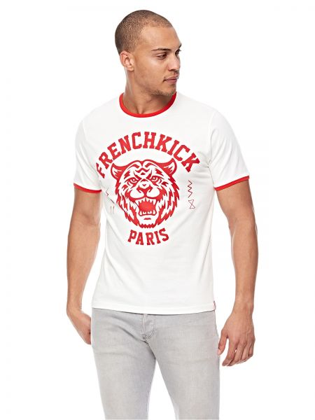 d1620fcb409398 French Kick T-Shirt for Men - Red   White