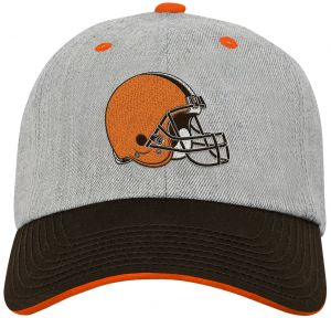 c9a25aca7ab NFL Youth Boys Chainstitch Heather Twill Slouch Hat-Brown Suede-1 Size