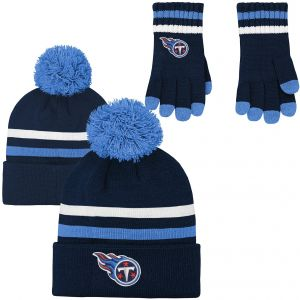 8e72044c7 NFL Youth Boys (8-20) 2 Piece Knit Hat and Gloves Set-Dark Navy