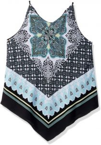 1f2c05ffe26dd Amy Byer Girls  Big 7-16 Scarf Print Tank Top