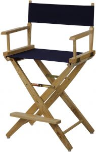 Groovy American Trails Extra Wide Premium 24 Directors Chair Natural Frame With Navy Canvas Counter Height Caraccident5 Cool Chair Designs And Ideas Caraccident5Info