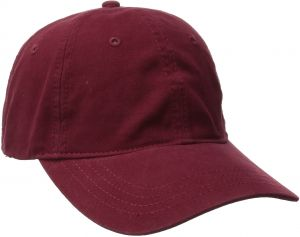 97a97fbb San Diego Hat Company Women's Washed Ball Cap with Adjustable Leather Back,  Red, One Size