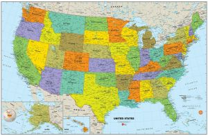 Sale On Wallpops Usa Map Decal Wall Pops Roommates Wizard Uae