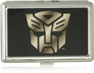 f51a619cc14 Buckle-Down Business Card Holder - Autobot Logo Black Silver-Fade - Large