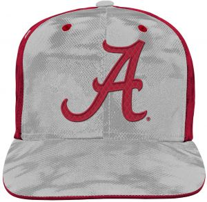 91d7a290cb2 NCAA Alabama Crimson Tide Youth Boys Raster Camo Flatbrim Snapback Hat