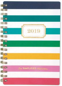 picture regarding Emily Ley Planners called Emily Ley Month-to-month Pocket Planner, January 2019 - December 2019, Pleased Stripe (EL100-302)