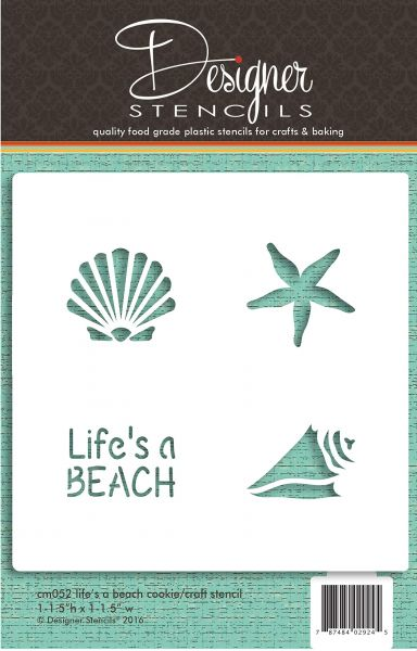 Life's a Beach Cookie and Craft Stencil CM052 من Designer Stencils