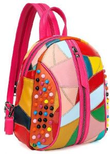 40566b3b52bb5 Casual simple lovely leather shoulder bag Bright colorful soft backpack for  women