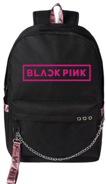 f2ac974a39b Korea BLACK PINK backpack school student canvas bookbag fashion ...