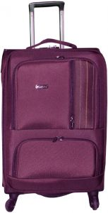 d1ada8a08f60 HighFlyer Fawn 24 Inch Trolley Hard Luggage Bag Set - Purple