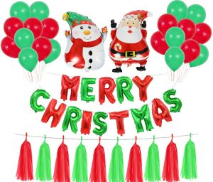 New Year Christmas Balloons Party Decoration Santa Claus Snowman Tree Merry Christmas Letter Foil Balloon Xmas Kids Toy Mm