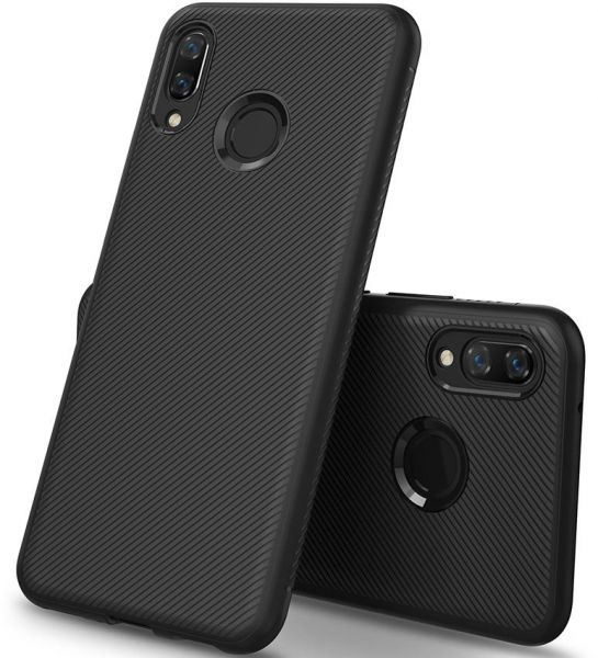 cheap for discount 6e659 a4e48 KuGi Huawei Y9 2019 Case, Shock Absorption Protection Soft TPU Case Cover  for Huawei Y9 2019, Black