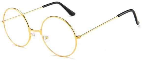 3eccdfda781 Stylish gold-rimmed large style flat glasses