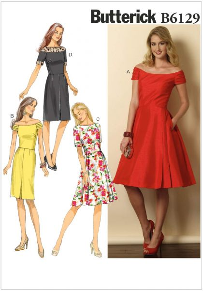 31c9f5b26862 Butterick Patterns B6129 Misses'/Misses' Petite Dress Sewing ...