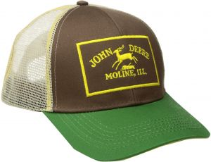 d5226ab975c John Deere Men s Twill and Mesh Cap Embroidery
