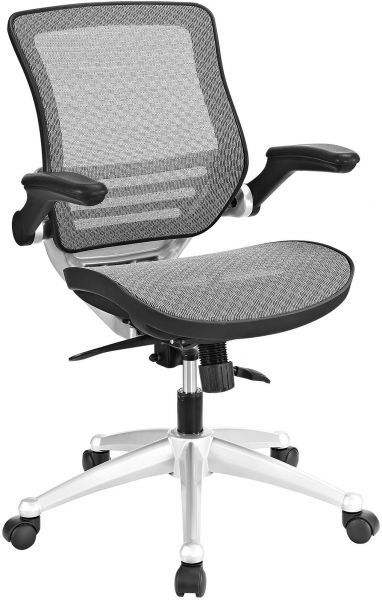 Modway Edge All Mesh Office Chair With Flip Up Arms In Gray Ergonomic Desk And Computer Chair