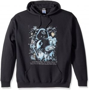67564d3a18f5c5 Star Wars Unisex-Adults Men s Galaxy of Graphic T-Shirt, Black  Hoodie,  Large