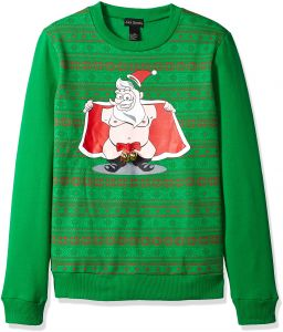 bd6ca902a37 Alex Stevens Men s Jingle Balls Santa Ugly Christmas Sweater