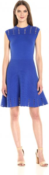 Ted Baker Women s Zaralie Jacquard Panel Skater Dress 78d99a8d7