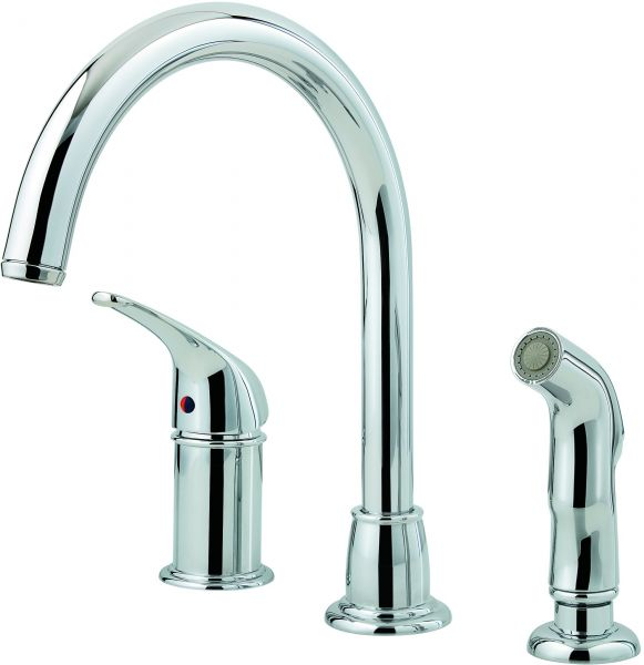pfister lfwk1680c cagney 1 handle kitchen faucet with side spray in rh uae souq com