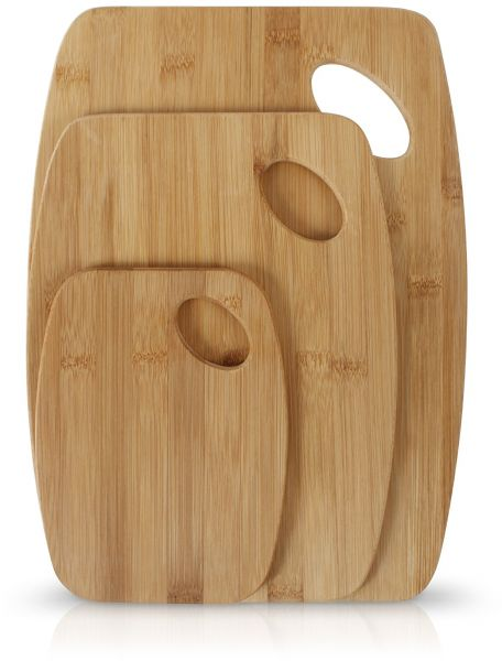 Neoflam 3 Piece Bamboo Cutting Board Set With Handle Souq Uae