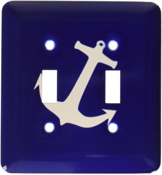 Rose Lsp 80374 2 Light Gray Boat Anchor On Navy Blue Double Toggle Switch Souq Uae