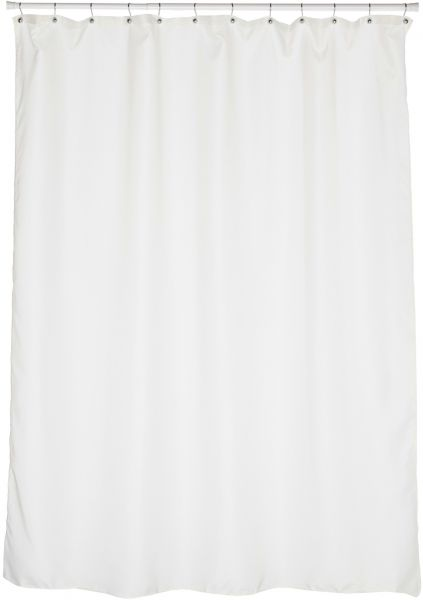 Carnation Home Fashions Fabric Extra Long Shower Curtain Liner Ivory 70 X 84 Inch