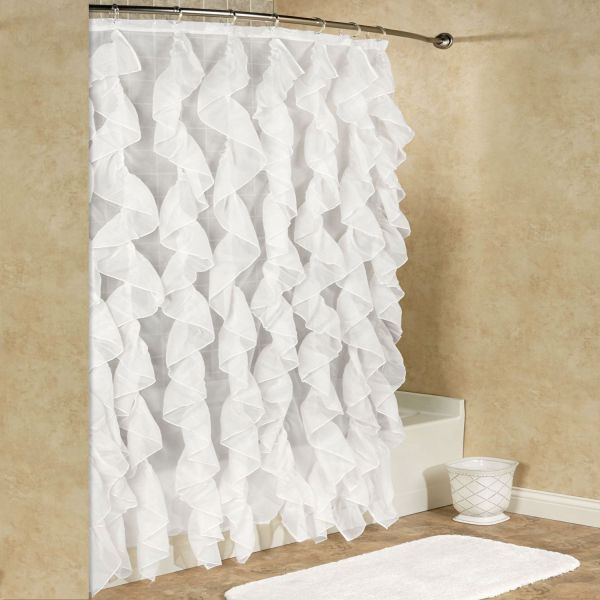 Sweet Home Collection Durable Fabric Shower Curtain 70 X 72 White