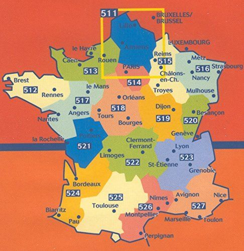 Michelin Map France Regional Map 512 Brittany Tear Resistant 1