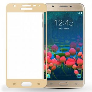 Tempered Glass Screen Protector For Samsung Galaxy J7 Prime _Gold