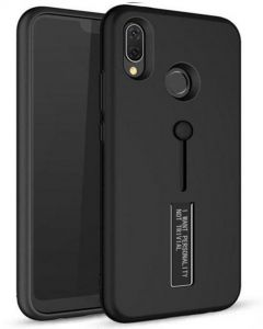 4103f1fdc5a4e Personality TPU Pc Dual Layer With Stand and Finger Holder Back Cover For  Huawei Honor 8X - Black