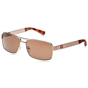 bfeb4d604e Guess Rectangle Sunglasses For Women - Brown Lens